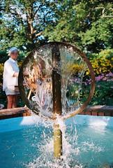 Garden Art (Aaron Switzer) Tags: film 35mm garden flower new hampshire england kodak ektar