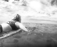(seanlewis) Tags: puertopeñasco mexico johanna beach sand water bajacaliforniasur blackandwhite bw clouds sky boogieboard