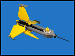 Needle Ship (Karf Oohlu) Tags: lego moc microscale microspacetopia scifi spaceship needleship