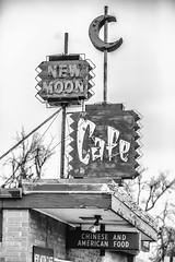 New Moon Cafe (Thomas Hawk) Tags: america casper newmooncafe usa unitedstatesofamerica unitedstates wyoming bw neon neonsign restaurant fav10 fav25 fav50 fav100