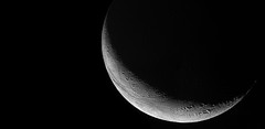 Enceladus crescent (lesaintsylvain) Tags: nasa cassini science exploration space solar system moon geyser water life expectation reality ice deep probe mission future