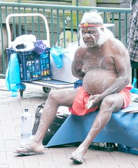 Old Aboriginie (Stanley Zimny (Thank You for 45 Million views)) Tags: people man australia travel aboriginie old fat