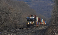 21V (Images by A.J.) Tags: train railroad railway ge rail transport cargo freight intermodal container stack pennsylvania pittsburgh derry latrobe laurel highlands autumn fall winter norfolk southern