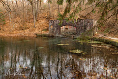 Paradise Springs Nature Trail (Images by MK) Tags: springs water ruins trees fall leaves reflection rural nature wisconsin eaglewi paradisesprings