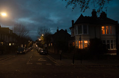 Long walk ! (clickrseye) Tags: nightlights nightshot england clapton warwickgrove hackney centrallondon bluesky