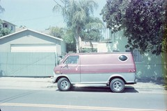 van (~filth~filler~) Tags: kodak gold color 400iso film philm 2015 pony135 sandiego california may graduation oldvan car vehicle redsilvervan 35mm