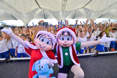 07/12/19 - Mônica e Celbolinha fizeram a alegria de criancas e adultos neste sábado na Copa Truck - Fotos: Duda Bairros