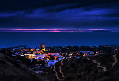 A Stormy Ventura Night (Nathan Wickstrum) Tags: red ventura downtown storm night nathan wickstrum clouds sky weather blue city county california explore nikon sigma 55500mm d810 earth ocean pacific