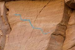 The Blue Snake (W9JIM) Tags: w9jim rockart pictograph blue snake grandstaircaseescalante sheepcanyon 5d4 24105l 105mm canoneos5dmarkiv ef24105mmf4lisusm