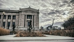 Backdrop (ancientlives) Tags: chicago illinois il usa fieldmuseum museumcampus museum dinosaur exhibit clouds weather walking downtown city sky saturday december 2019 autumn
