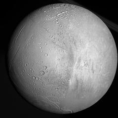 Enceladus Full (lesaintsylvain) Tags: nasa cassini science exploration space solar system moon geyser water life expectation reality ice deep probe mission future