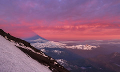 Sunrise over Volcano (StarCitizen) Tags: patagonia argentina volcano lanin mountains snow clouds epic sunrise