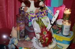 huntsman (sophiemorgando) Tags: light painting lightpainting long exposure portrait portraitphotography food dragonfruit dragon fruit knife fire pink blue gender selfportrait