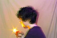 moment (sophiemorgando) Tags: light painting lightpainting long exposure portrait portraitphotography food dragonfruit dragon fruit knife fire pink blue gender selfportrait