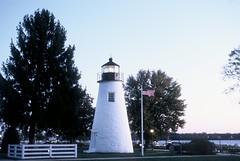 Concord Point Light (HaveRoverWillTravel) Tags: ektachrome ektachromee100 newektachrome film lighthouses lighthouse water maritime maryland