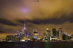 Skyline Toronto (NickHang:)) Tags: city cityscape lights view bright canada nikon building ocean sea tower cloud sky colourful smooth yellow night toronto ship ngc