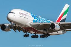 Emirates A380-861 A6-EOT (José M. Deza) Tags: 20190110 a380861 a6eot airbus bcn boeing elprat emirates lebl planespotting spotter aircraft