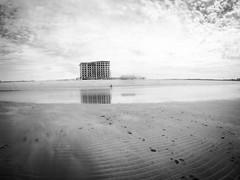 (seanlewis) Tags: puertopeñasco mexico beach sand water bajacaliforniasur blackandwhite bw clouds sky resort