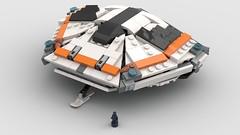 sidewinder micro money shot (Beef 1213) Tags: elite dangerous elitedangerous spaceship starship smol white orange sidewinder microscale lego