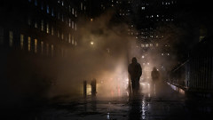 Emergence (onefivefour) Tags: nyc manhattan newyork rain night dark fog steam smoke backlight glow haze cold winter