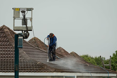Waterblasting the roof (341/365)