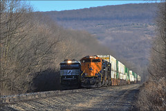 21E (Images by A.J.) Tags: train railroad railway rail transport emd sd70ace heritage central new jersey cnj cargo freight intermodal container stack pennsylvania pittsburgh derry latrobe laurel highlands autumn fall winter norfolk southern