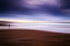 A Walking Dream (danholmesphoto) Tags: beach beachscenes californiacoast coast jalamabeach pacific pacificocean sand clouds color composits digitalart electronicimaging ocean waves winter lompoc ca usa