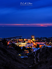 A Stormy Ventura Night (Nathan Wickstrum) Tags: ventura downtown storm night nathan wickstrum clouds sky weather blue city county california explore