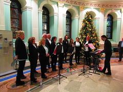 Choir (sam2cents) Tags: nationallibraryofireland music choir voices christmastree performance song carols ireland