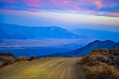 Down the road (CaptSpaulding) Tags: canon california color contrast clouds 50mm mountains mountain landscape light deathvalley desert rocks rock road nature nationalpark nationalmonument