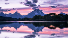 Oxbow Bend (Jeremy Duguid) Tags: grand teton national park tetons oxbow bend snake river reflection reflections mountain mountains colors colours clouds trees nature landscape flickr jeremy duguid sony dusk travel landscapes beauty west western wyoming yellowstone