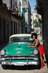 The Best of Cuba (Pavlo Kuzyk) Tags: girl dress heels afro old antique car buildings city canon