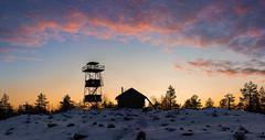 Tower, a Hut and the Sunset (Mygii) Tags: finland kemi keminmaa martioaapa kivalo sunset lapland