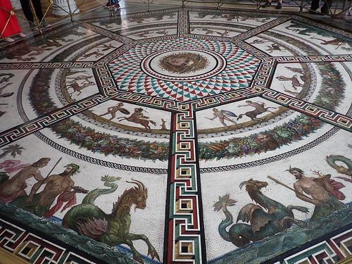 Hermitage: floor mosaic, Pavilion Hall