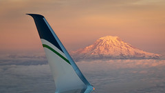 Mount Rainier (nhblevins) Tags: cloudsge mountrainier d850 aerial nikon sunset seattle mountain