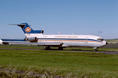 YU-AKG Boeing B727-2H9 EGPK 1987 (MarkP51) Tags: yuakg boeing b7272h9 b727 yugoslavairlines jat ju prestwick airport pik egpk scotland airliner aircraft airplane nikon f301 kodachrome64 slide film scan sunshine sunny