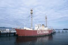 Lightship COLUMBIA (HaveRoverWillTravel) Tags: ektachrome ektachromee100 newektachrome film lighthouses lighthouse water maritime oregon