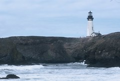 Yaquina Head Light (HaveRoverWillTravel) Tags: ektachrome ektachromee100 newektachrome film lighthouses lighthouse water maritime oregon
