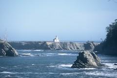 Cape Arago Light (HaveRoverWillTravel) Tags: ektachrome ektachromee100 newektachrome film lighthouses lighthouse water maritime oregon