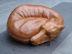Whippet Good - 7 December 2019 (John Oram) Tags: whippetgood sculpture bench stgilessquare london 2003p1010519