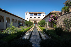 Patio of the Irrigation Ditch (cookedphotos) Tags: canon 5dmarkiv travel travelphotography spain granada alhambra palace moorish architecture generalife gardens patiooftheirrigationditch reflecting pool reflection fountain irrigation