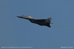 MiG-29 UB (srkirad) Tags: aircraft airplane jet fighter military mikoyan gurevich mig29 fulcrum serbianairforce airshow belgrade beograd serbia srbija planespotting flying sky