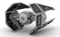 lego TIE interceptor moc (V2.0) (KaijuWorld) Tags: lego moc custom tie interceptor star wars empire ldd