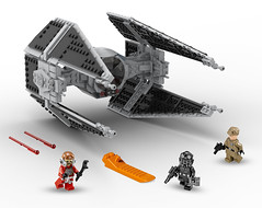 lego star wars TIE interceptor set (moc) (KaijuWorld) Tags: lego moc custom tie interceptor star wars empire ldd