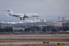 Private Gulfstream G650, N451CS (LLBG Spotter) Tags: llbg tlv