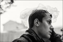 18drg0137 (dmitryzhkov) Tags: urban city everyday public place outdoor life human social stranger documentary photojournalism candid street dmitryryzhkov moscow russia streetphotography people man mankind humanity bw blackandwhite monochrome rain badweather