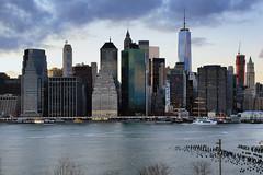 Downtown Manhattan (erichudson78) Tags: usa nyc newyorkcity manhattan downtown paysageurbain urbanlandscape longexposure poselongue dusk crépuscule twilight canoneos6d canonef24105mmf4lisusm river eastriver fleuve eau water sky skyscraper ciel gratteciel