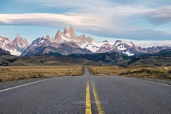 The Amazing Mount Fitz Roy in El Chalten, Patagonia, Southern Argentina - Christine Phillips (Christine's Phillips (Christine's observations) - ) Tags: fitzroy nopeople road nowhere gosomewhere elchalten magic mostbeautifulplaceintheworldilovelife christinephillips mountain horizontal landscape argentina patagonia wow awe awesome