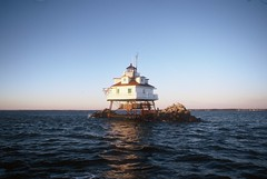 Thomas Point Light (HaveRoverWillTravel) Tags: ektachrome ektachromee100 newektachrome film lighthouses lighthouse water maritime maryland