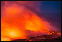 Land Ho' (Aaron M Photo) Tags: 61g aaronmeyersphotography bigisland d800 fire hawaii kalapana nationalpark nikon pacificocean sunrise eruption hike hotlava kilauea landscape lava lavaexplosion lavaflow nature ocean steam vacation volcanic volcanicbomb volcanicrock volcano volcanonationalpark water